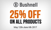 25 DAYS OF BUSHNELL - 25% OFF  ALL ITEMS (Expired)
