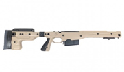 Accuracy International AT Chassis LA .338 Lapua Mag CIP Model 700 Fixed Stock 1.5 PALE BROWN 26702PB 26702PB