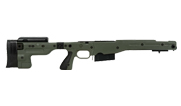 Remington 700P 5R 300 Win Mag with Accuracy International AT Green Folding Chassis|