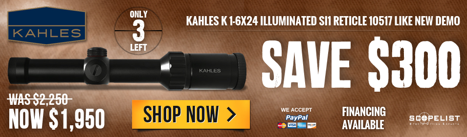 Kahles K 1-6x24 illuminated SI1 Reticle 10517 like new demo