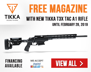 Get Free One Magazine With Purchase of Any New Tikka TAC A1 rifle