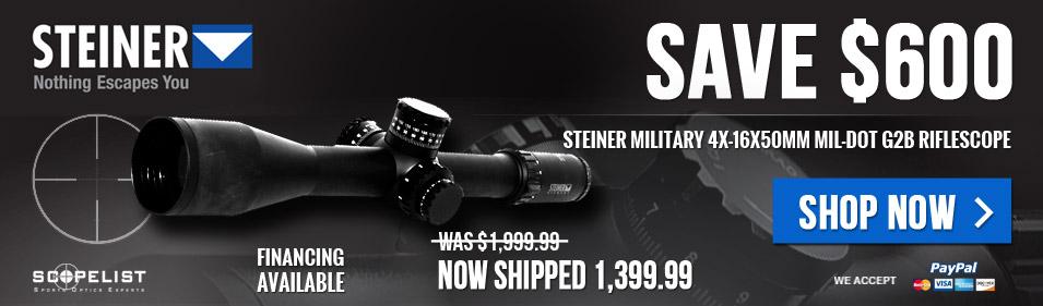 Steiner Military 4-16X50 G2B MilDot B870100101