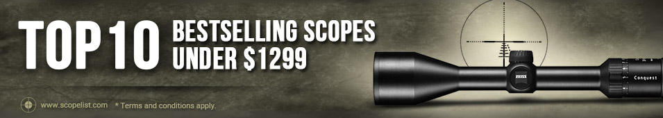 Top 10 Bestselling Scopes Under $1299