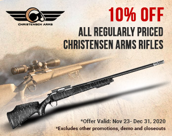 Up To 10% Off Most Christensen Arms!