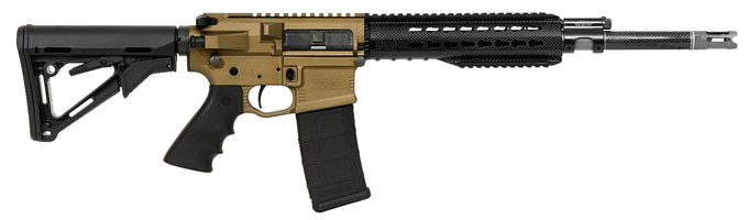 Christensen Arms CA-15 Recon Burnt Bronze receiver, carbon wrap 223, 16 inch bbl, Magpul CTR stock,