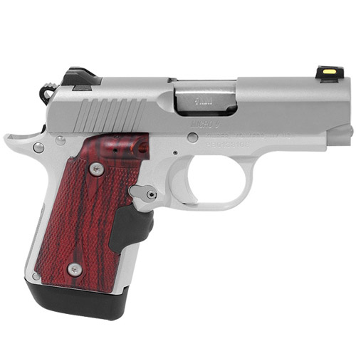 Kimber Micro 9 Stainless Rosewood LaserGrips (1) 7rd Mag