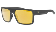 Leupold Becnara Matte Black/Gloss Black Orange Mirror Lens Performance Eyewear 179633