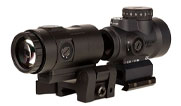 Trijicon 1x25 MRO HD Combo Set; 68 MOA Reticle w/ 2.0 MOA Dot; Full Co-Witness AC32068 and 3X Magnifier w/ Adjustable Height Quick Release, Flip to Si