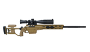 Sako TRG M10 .338 LM Coyote Brown/ Black, Right Folding Stock, 30 MOA with Nightforce C545 and ERA-TAC T2064-0025 and bubble level. JRS353RTL2 - UA156