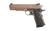 Sig Sauer Emperor Scorpion, Fastback Frame FDE PVD Finish, Low Pro Night Sights, Ambi,  Black G10 Gr 1911FTCA-45-ESCPN