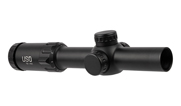 US Optics TS 1-8x24mm ; 30 mm Tube; Digital Red SFP Simple Crosshair; 2 MOA Red Dot; Riflescope TS-8X SFP