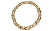 Alex Sepkus 18K Sapphire and Diamond Lace Necklace