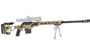 "Cadex Defense R7 Lite Comp M-LOK Tan/Black 260 Rem 24"" 20 MOA Skeleton Rifle CDXR7-LCP-260-24-B-MB-HTB"