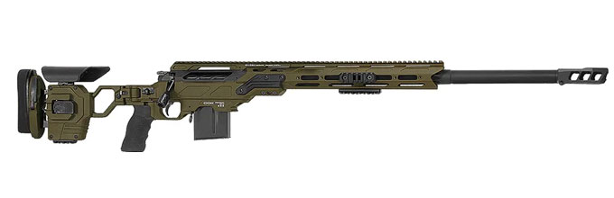 "Cadex Defense R7 Field Comp M-LOK OD Green/Black 338 Lapua 27"" 30 MOA Skeleton Rifle CDXR7-FCP-338-27-B-MB-HOD"
