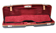 Negrini One Gun Sporting High Rib Case Blue Brown Leather Trim and Handle Bordeaux Interior 1622LX-T 1622LX-TS/5228
