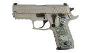 "Sig Sauer P226 Scorpion 9mm DA/SA 4.4"" CA Compliant FDE Pistol w/SIGLITE, SRT, Black/Green G10 Grip, and (2) 10rd Steel Mags 226R-9-SCPN-CA"