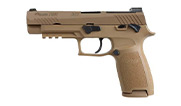 "Sig Sauer P320 M17 9mm 4.7"" Coyote MA Compliant Pistol w/SIGLITE, DP Pro Plate, (3) 10rd Steel Mags, and Rail 320F-9-M17-MS-MA"