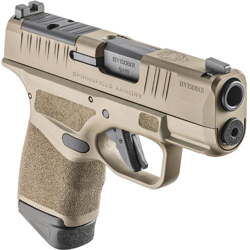 Springfield Armory Hellcat 9mm Micro Compact 3 Osp With 11rd 13rd Ext Optical Sight Fde Pistol Hc9319fosp For Sale Scopelist Com