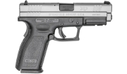 "Springfield Armory XD 9mm Service 4"" Stainless, 10Rd Pistol w/ 2 Mags XD9301"