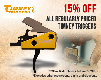 15% Off Regularly Priced Timney Triggers