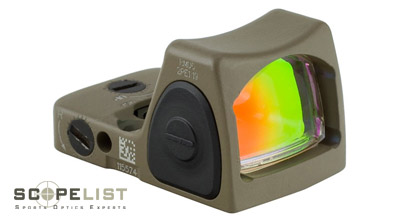 Trijicon RMR® Adjustable LED Sight - 6.50 MOA Red Dot-CK-FDE RM07-C-700237 RM07-C-700237
