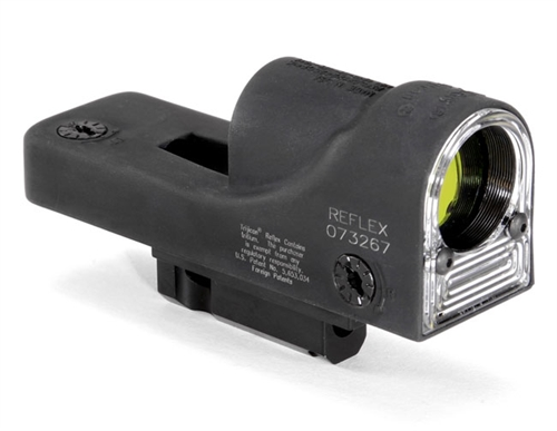 Trijicon 1x24 Reflex, Amber 6.5 MOA Dot Reticle, Reflex Base (with RX25 M16/AR15 Top of Handle Mount 800011