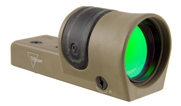 Trijicon 1x42 Reflex, Amber 4.5 MOA Dot Reticle, Reflex Base (without Mount)CK-FDE 800094