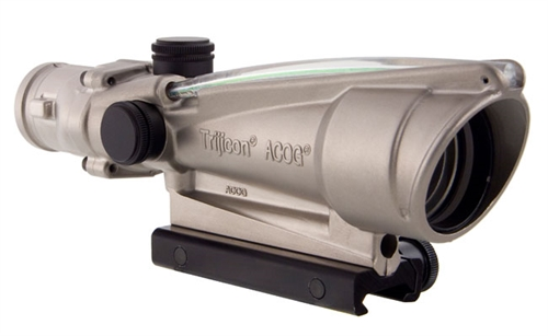 Trijicon 3.5x35 ACOG Nickel Boron Dual Illum Green Chevron .223 Ballistic w/ TA51 Mount 100201 100201