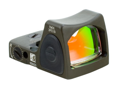 Trijicon RMR Adjustable LED Sight - 6.50 MOA Red Dot-CK-ODG RM07-C-700236