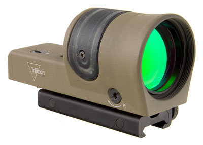 Trijicon 1x42 Reflex, Amber 4.5 MOA Dot Reticle, ACOG Base (with TA51 Flattop Mount)CK-FDE 800109
