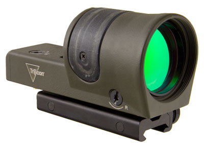 Trijicon 1x42 Reflex, Amber 6.5 MOA Dot Reticle, ACOG Base (with TA51 Flattop Mount) CK-ODG 800090