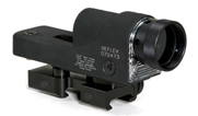 Trijicon 1x24 Reflex, Amber 4.5 MOA Dot Reticle, Reflex Base (with Flattop Adapter, Polarizing Filte 800018
