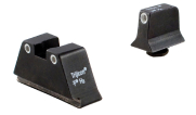 Trijicon Bright & Tough Night Sight Suppressor Set White Front/Rear with Green Lamps for Glock Models 17, 17L, 19, 22-28, 31-35, and 37-39 GL201-C-600649 600649 GL201-C-600649