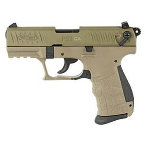 Walther Arms P22  22 L R  CA Full FDE 10 round Pistol w/ 2 mags 5120364