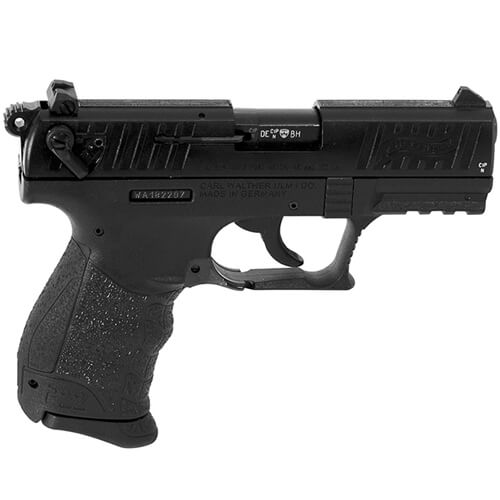 Walther P22QD  22 L R  Black 10 round