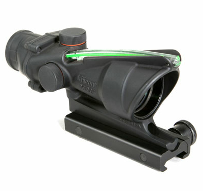 Trijicon TA31H-G ACOG 4x32 Dual Illum Green Horseshoe/Dot 223 Ballistic Reticle w/TA51 mount - Trijicon ACOG