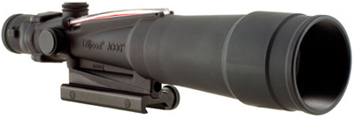 Trijicon TA55 ACOG 5.5x50 Dual Illum Red Chevron 223 ballistic Reticle w/ TA51 Mount - Trijicon ACOG